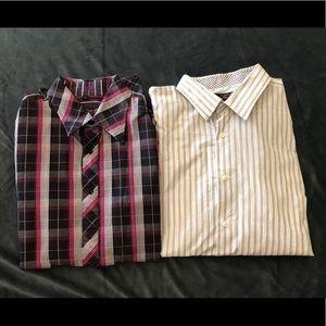 😍 Two Ben Sherman Dress Shirts - Men's Size L 😍